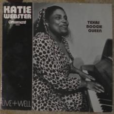 Vinyl/Vinil Katie Webster-Texas Boogie Queen - Live + Well (blues), Germany, VG+ - Muzica Blues