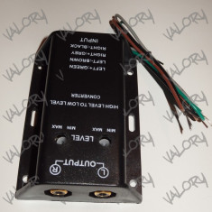 Convertor audio high to low level ( semnal boxa amplificator statie RCA ) NOU - Elemente montaj audio auto