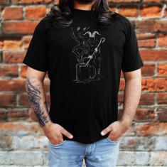 Tricou Rock Evil Coffee - Tricou barbati, Marime: S, M, L, XL, XXL, Culoare: Negru, Maneca scurta, Bumbac