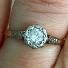 ***Inel diamante aur 18k si platina, Culoare: Galben, 46 - 56