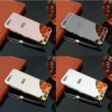 Husa / Bumper aluminiu + spate acril oglinda pentru Asus Zenfone 4 ZE554KL