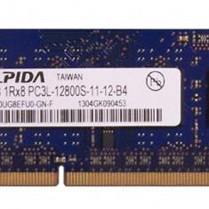 Memorie ram laptop Elpida 4GB PC3L-12800 DDR3-1600MHz EBJ40UG8EFU0-GN-F 1.35V