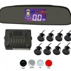 Senzori parcare fata spate cu 8 senzori cu display in oglinda - Senzor de Parcare