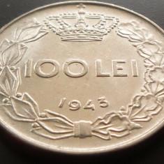 Moneda 100 Lei - ROMANIA, anul 1943 *cod 4578 XF - Moneda Romania
