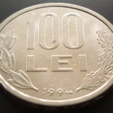 Moneda 100 Lei - ROMANIA, anul 1994 *cod 3724 - Moneda Romania