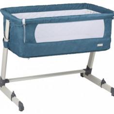Patut co-sleeper 2 in 1 Together Turquoise BabyGo - Patut pliant bebelusi