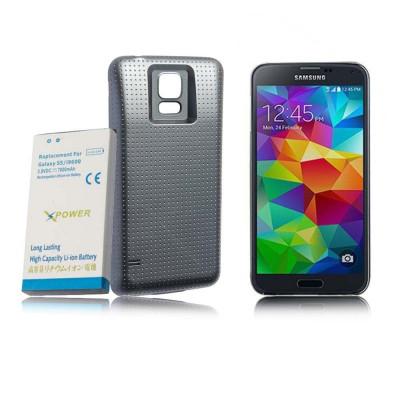 Baterie extinsa 7000 mAh  pentru Samsung Galaxy S5 i9600 capac special foto