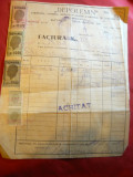 Factura cu Antet Depolemn 1947 Cherestea ,material lemnos , timbre fiscale