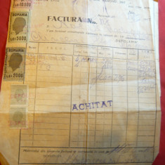 Factura cu Antet Depolemn 1947 Cherestea, material lemnos, timbre fiscale - Hartie cu Antet