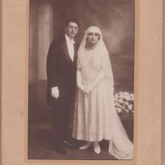 FOTOGRAFIE MIRE SI MIREASA 1923 14x20 CM CARTEA ROMANEASCA FOTOGLOB BUCURESTI
