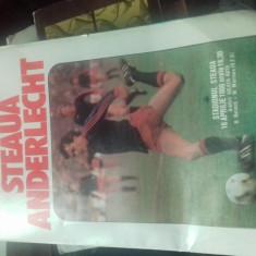 PROGRAM STEAUA-ANDERLECHT 16 APRILIE  1986 SEMIFINALA CUPEI CAMPIONILOR EUROPENI