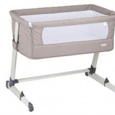 Patut co-sleeper 2 in 1 Together Beige BabyGo - Patut pliant bebelusi