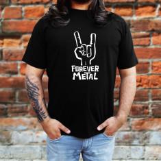 Tricou Rock Metal Forever - Tricou barbati, Marime: S, M, L, XL, XXL, Culoare: Negru, Maneca scurta, Bumbac