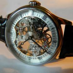 Ceas barbatesc deosebit Rotary, mecanic, Elegant, Mecanic-Manual, Inox, Analog, 2000 - prezent