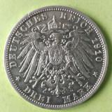GERMANIA PRUSIA PREUSSEN 3 MARK MARCI 1910 ARGINT STARE AUNC, Europa