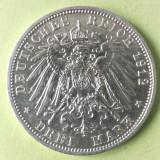 GERMANIA PRUSIA PREUSSEN 3 MARK MARCI 1912 ARGINT STARE AUNC, Europa