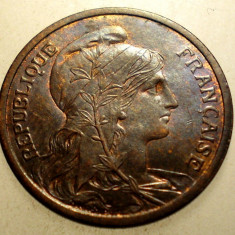 J.250 FRANTA 2 CENTIMES 1904 XF, Europa, Bronz