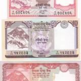 Bancnota Nepal 5, 10 si 20 Rupii 2012 - P69-71 UNC ( set 3 bancnote ) - bancnota asia