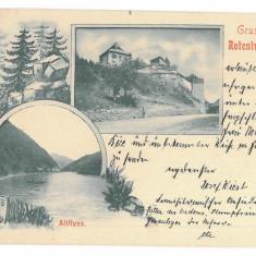 2363 - Litho, Sibiu, TURNU ROSU - old postcard - used - 1898 - Carte Postala Transilvania pana la 1904, Circulata, Printata