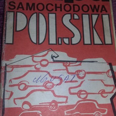 Harta auto turistica,veche 1973,harta veche de colectie,Tp. GRATUIT