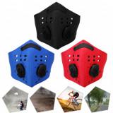 Masca protectie fata neopren rosie, model NR03, paintball, ski, motociclism