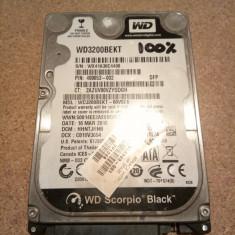 Hard Disk/HDD SATA WESTERN DIGITAL SCORPIO BLACK 320GB 100% HEALTH Laptop 7200RM - HDD laptop Western Digital, 300-499 GB