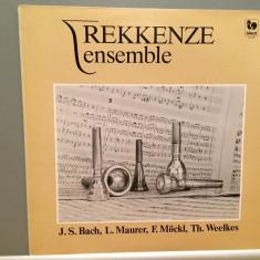 Rekkenze Ensemble plays Bach, Mockl.....(1984/Gallo/France)- disc VINIL/Impecabil - Muzica Clasica deutsche harmonia mundi