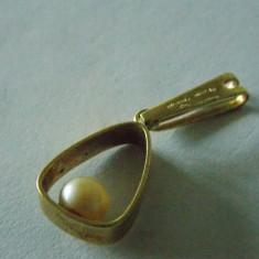 Pandant cu perla placat aur -2175 - Pandantiv placate cu aur
