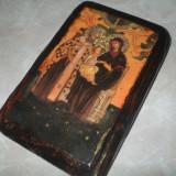 Iconita veche pe lemn litografie - Icoana pe lemn
