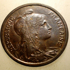 J.251 FRANTA 2 CENTIMES 1904 XF, Europa, Bronz