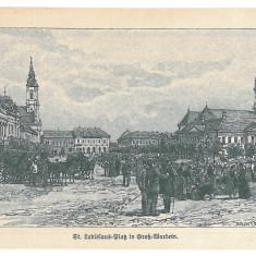 2681 - L i t h o, ORADEA, Market - old postcard - unused - Carte Postala Crisana pana la 1904, Necirculata, Printata