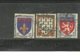 FRANTA 1943 - STEME PROVINCII, serie deparaiata stampilata CD53, Stampilat
