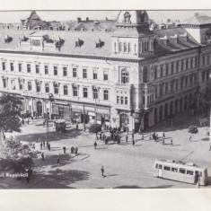 Bnk cp Arad - B-dul Republicii- circulata - Carte Postala Crisana dupa 1918, Printata