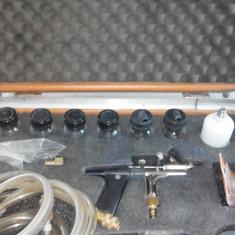 Aerograf, pistol vopsit profesional (set)SATA Dekor Z cu 3 duze diferite - Pistol de vopsit Hecht