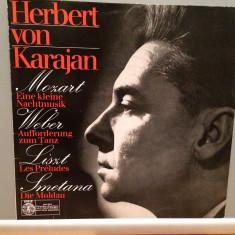 Mozart/Weber/Liszt/Smetana - H.von Karajan(1972/Orbis/RFG)- disc VINIL/Impecabil, deutsche harmonia mundi