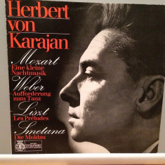 Mozart/Weber/Liszt/Smetana - H.von Karajan(1972/Orbis/RFG)- disc VINIL/Impecabil - Muzica Clasica deutsche harmonia mundi
