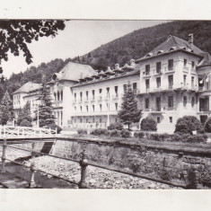 Bnk cp Slanic Moldova - Pavilionul bailor - circulata - Carte Postala Moldova dupa 1918, Printata