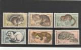 Fauna ,serie gravata ,Cehoslovacia., Nestampilat