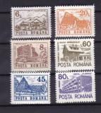 ROMANIA 1991  LP 1266  HOTELURI SI CABANE  III  FARA FILIGRAN SERIE  MNH, Nestampilat