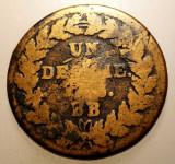J.278 FRANTA STRASBOURG PROVISIONAL 1 UN DECIME 10 CENTIMES 1815 BB, Europa, Bronz
