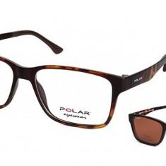 Rame ochelari de vedere barbati Polar CLIP-ON 403 | 428, Maro, Rama intreaga