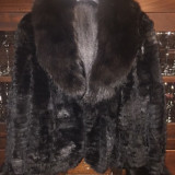 Haina din blana de nurca culoare neagra - haina de blana