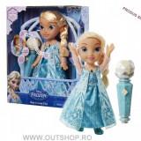 Jucarie fetite papusa cu microfon Elsa Frozen Disney