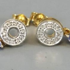 Cercei din aur cu tanzanite si diamante - Cercei cu diamante