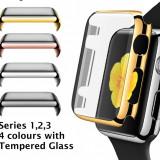 Husa bumper cu tempered glass integrat pentru APPLE WATCH 1 2 3 de 1,5 inch 42mm