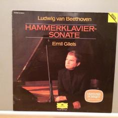 Beethoven - Sonate for Piano no 29 - E.Gilels(1983/Polydor/RFG)- VINIL/Impecabil - Muzica Clasica deutsche harmonia mundi