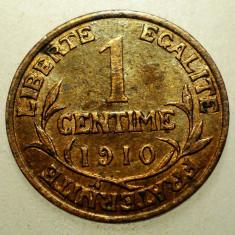 J.254 FRANTA 1 CENTIME 1910, Europa, Bronz