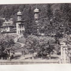 Bnk cp Slanic Moldova - Vedere din parc - circulata - Carte Postala Moldova dupa 1918, Printata