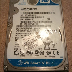 Hard-disk / HDD SATA WESTERN DIGITAL SCORPIO 320GB WD3200BEVT Defect - Zgomote - HDD laptop Western Digital, 300-499 GB