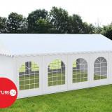 5x10 m Cort Evenimente PROFESIONAL PREMIUM XXL, PVC alb - Pavilion gradina